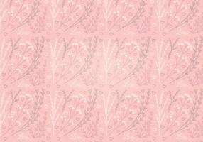 Vector Roze Hart Bloemen Naadloos Patroon