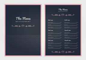 Vector hotel menu