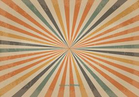 Retro gekleurde zonnestraal vector achtergrond