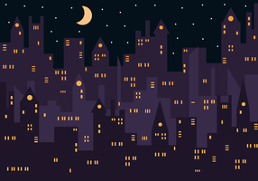 Gratis City Night Vector