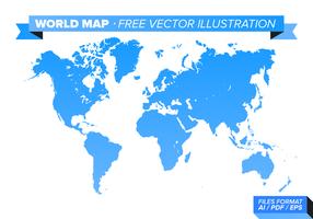 Wereldkaart Gratis Vectorillustratie vector