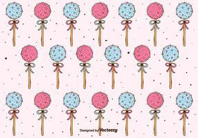 Cake Pops Patroon Achtergrond vector