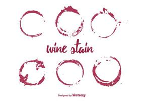 Vector Set Wine Stain