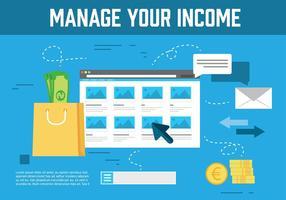 Gratis Inkomen Vector Illustratie