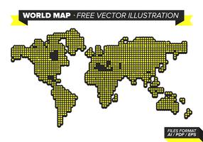 Wereldkaart Gratis Vector Illustratie Vol. 3