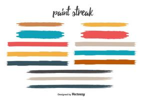 Gratis Paint Streak Vector Set
