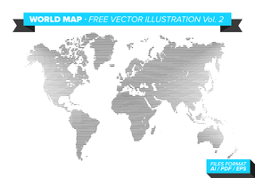 Wereldkaart Gratis Vector Illustratie Vol. 2