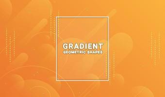 abstracte geometrische vormen oranje achtergrond