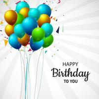 gelukkige verjaardag ballon bos achtergrond