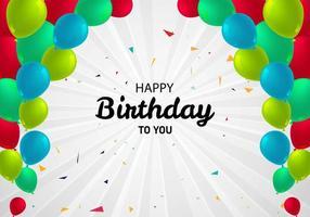 decoratieve veelkleurige ballonnen boog verjaardag achtergrond