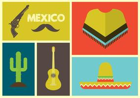 Vectorillustratie van Mexicaanse Pictogrammen vector
