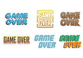 Game Over Collecties vector