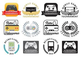 Video game logos vector