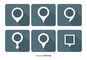 Kaart Pin Vector Icon Set