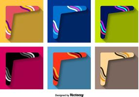 Boomerang Pictogrammen Vector Set