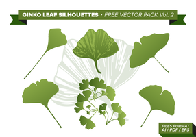 Ginko Leaf Gratis Vector Pack Vol. 2