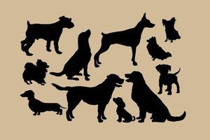 Hond Silhouetten vector