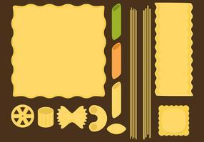 Pasta type vectoren
