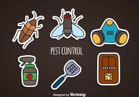 Pest Control Sticker Pictogrammen vector