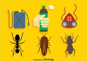 Pest control icons set