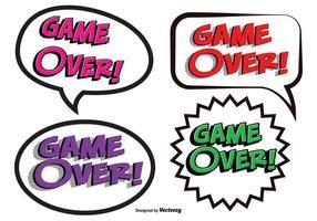 Game Over Striptekst Illustraties vector