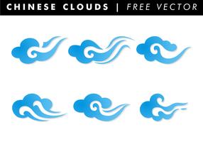 Chinese Wolken Gratis Vector