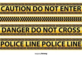 Politie en Voorzichtigheid Line Vectors