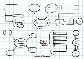 Mind map vector schets