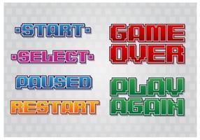 Retro spel menu