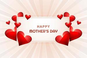 gelukkige moederdag kaart hart achtergrond vector