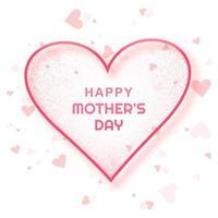 gelukkige moederdag kaart eenvoudige hart achtergrond vector