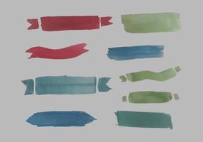Gratis Waterverf Banner Vector Pack