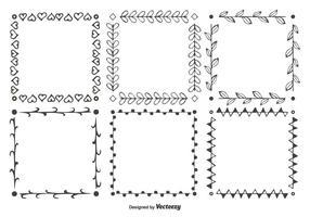 Hand getekende stijl vector frame set
