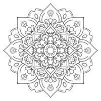 bloem mandala om in te kleuren