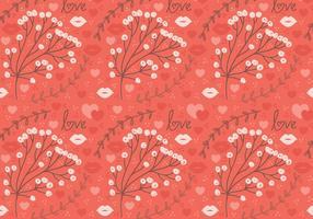 Rode Bloem Vector Naadloos Patroon