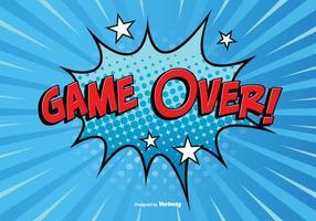 Comic Style Game Over Illustratie vector