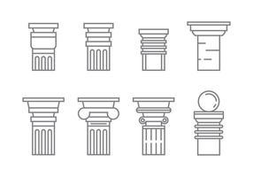 Gratis Vector Iconen # 1 van de Roman Pijler