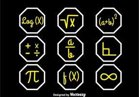 Set-up symbolen sets vector