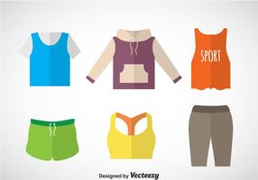 Tracksuit Flat Icons Vector Set