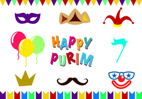 Gratis Purim Vector