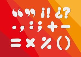 Punctuatie Punten Symbolen Vector