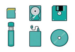 Digitale opslagvectoren