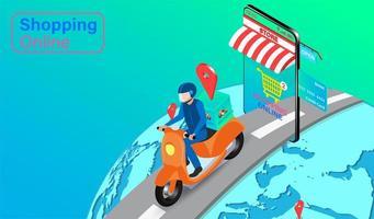 wereldwijde express levering concept