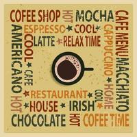 vintage koffie typografie achtergrond