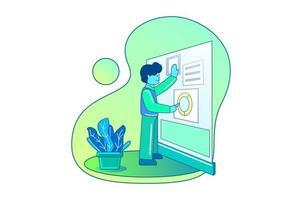 mensen uit het bedrijfsleven presenteren concept illustratie in verloopstijl