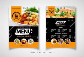 zwart en geel restaurant flyer vector