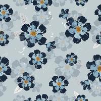 vintage marine bloemenpatroon