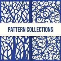 naadloze patroon boomtakken en cirkel collectie vector