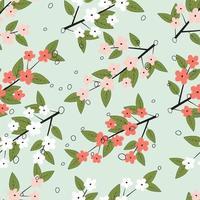 kleurrijke lente bloemenpatroon vector