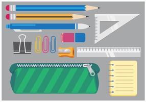School vector items